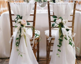 Cheap Wedding Chair Covers >> Bridal Chair Cover Etsy