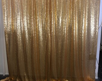 Photo Booth Sequin Curtains Gold Sequence Curtains Photo Etsy