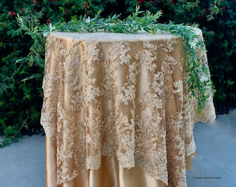 Gold Table Overlay Etsy