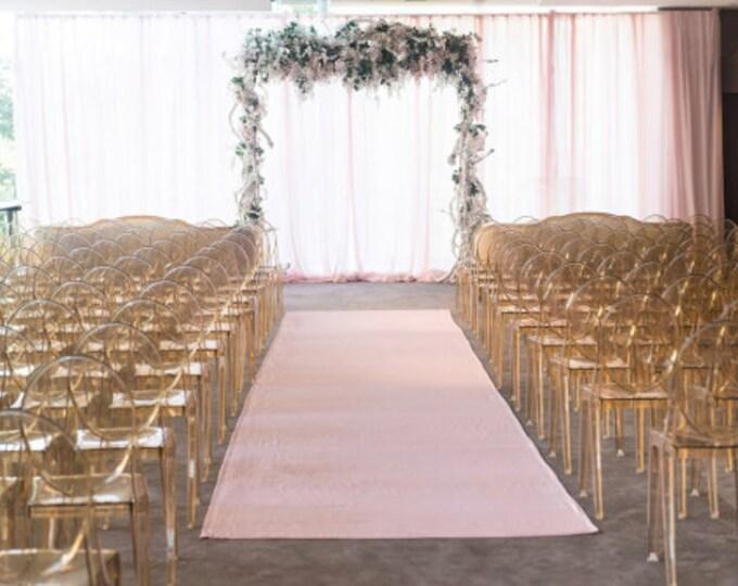 Blush Aisle Runner, Aisle runner wedding, aisle runner, Lamour aisle runner, wedding, wedding decor, glam wedding, wedding aisle runner
