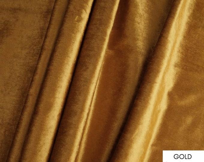 Fabric by the Yard, Velvet Fabric, Velvet Yardage, Per Yard, Fabric Per Yard, Gold Velvet, Blue Velvet, Black Velvet White Velvet Upholstery