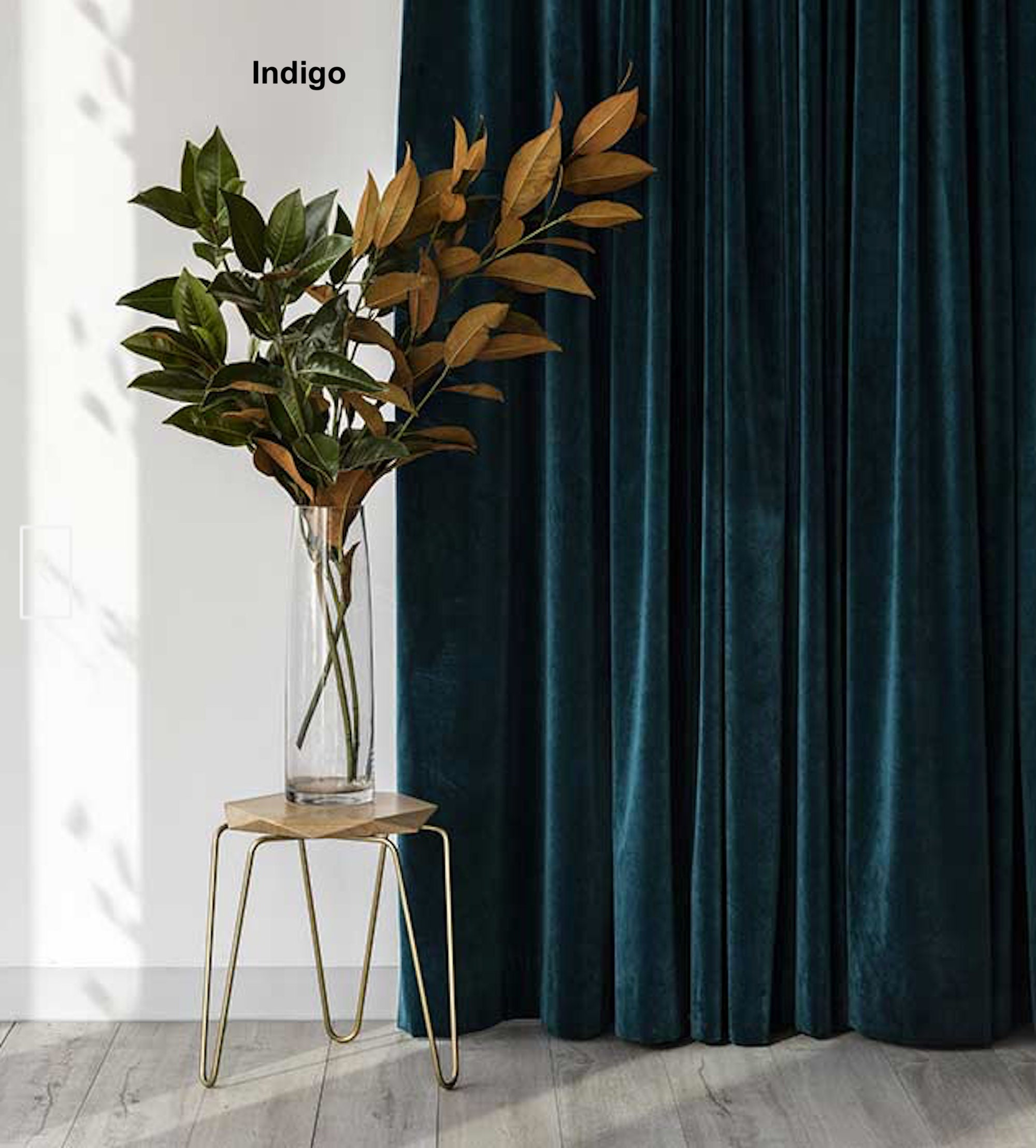 Velvet Curtains, Custom Window Curtain Panels, Curtain ...