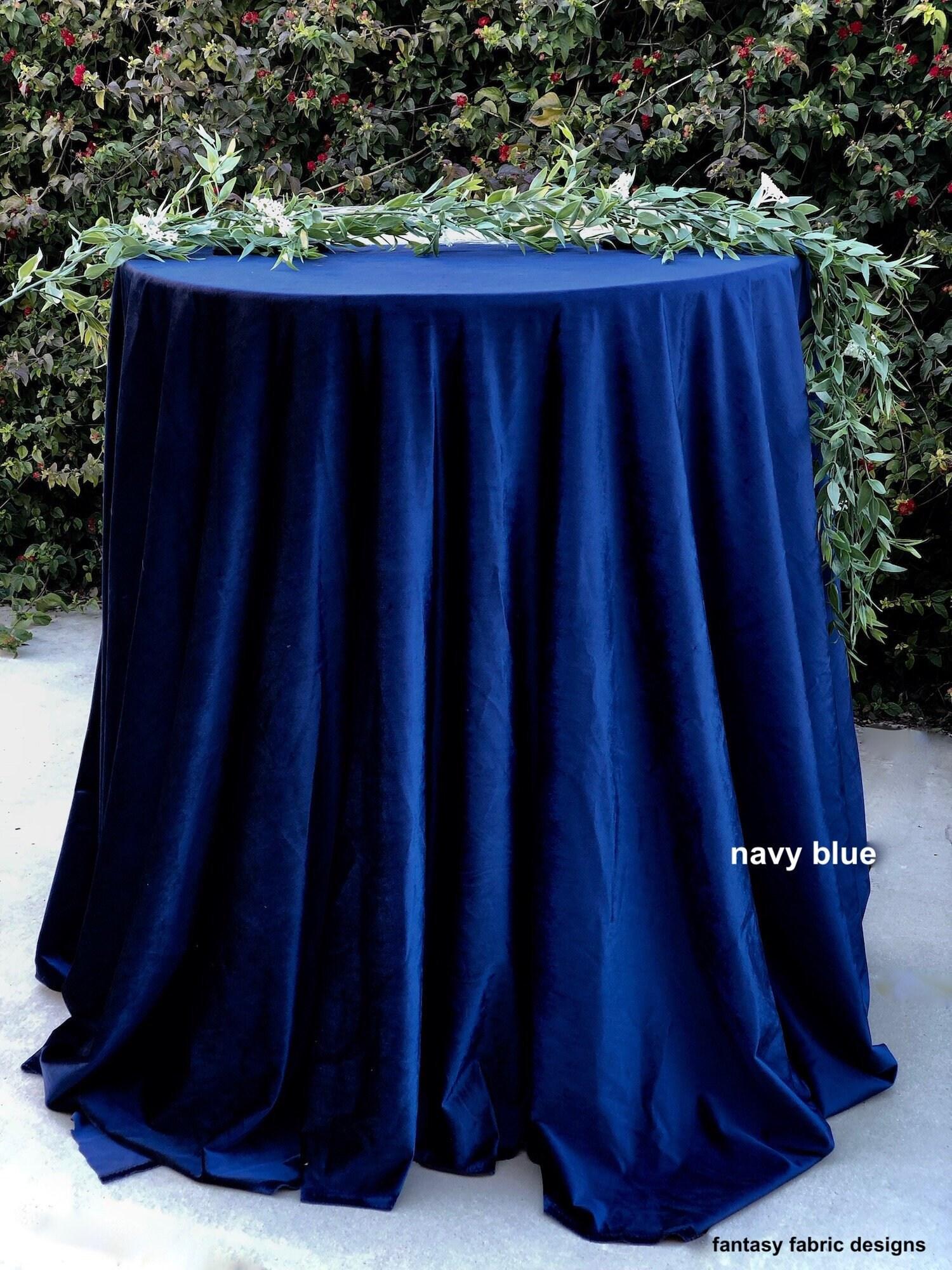 Navy Blue Velvet Tablecloth Navy Blue Wedding Navy Blue