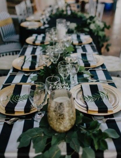 Table Napkins Navy Napkins Stripped Napkins Wedding