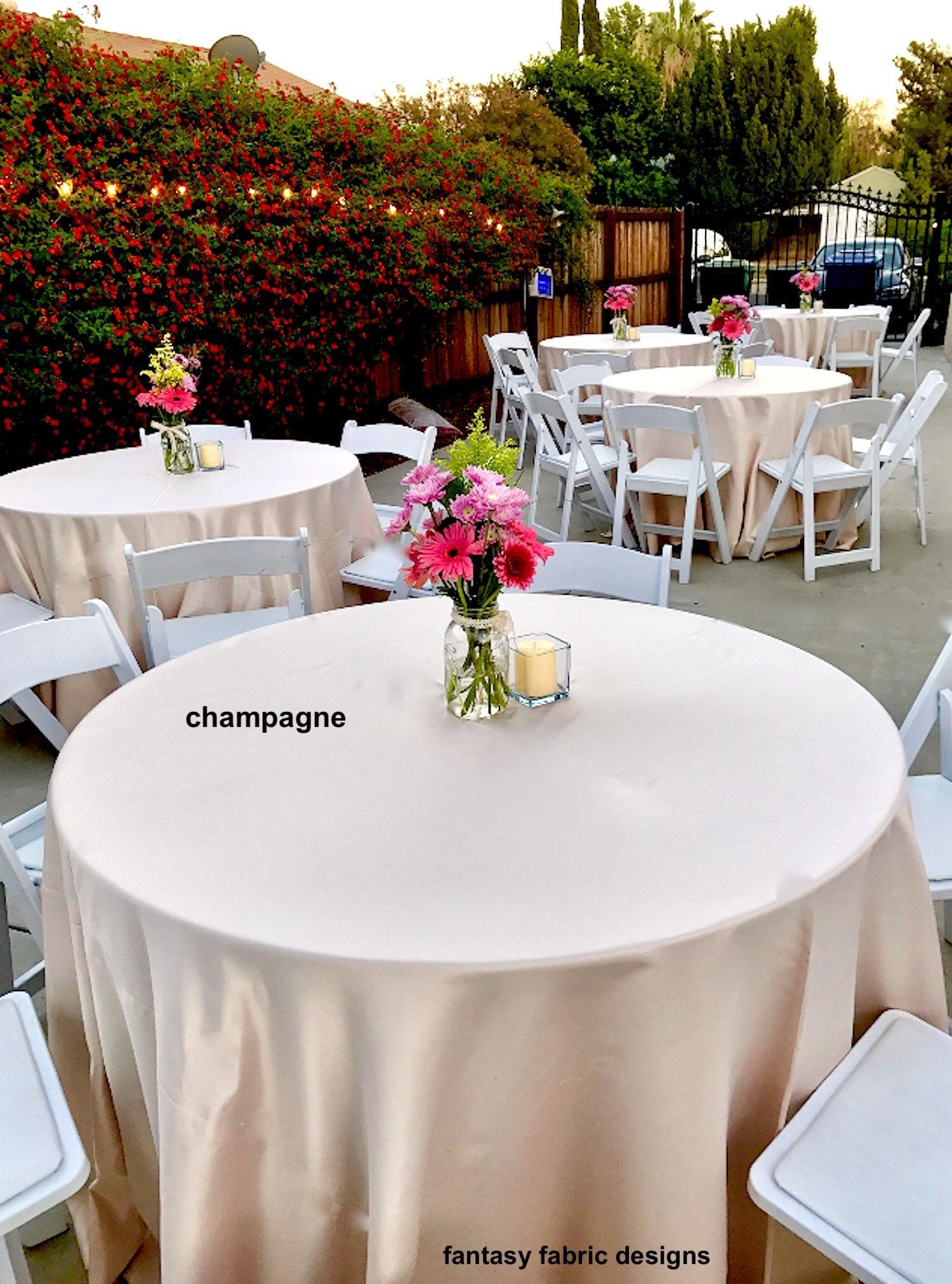 Tablecloth Wedding Tablecloth Lamour Satin Tablecloth Table Overlay Table Runner Bridal Baby Shower Table Cloth Satin Sale