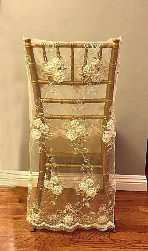 Amazing Bulk 50 Chair Covers Lace Chair Covers Wedding Chair Cover Embroidered Lace Lace Bridal Chair Full Length Wedding Decor Sale Onthecornerstone Fun Painted Chair Ideas Images Onthecornerstoneorg