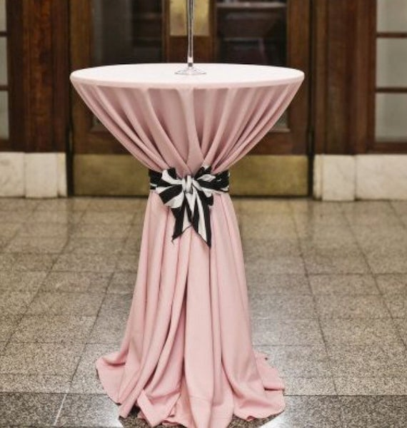 Blush Tablecloth Baby Shower Table Cloth Lamour Satin Etsy