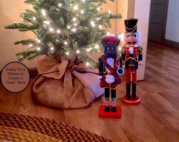 Burlap tree skirt, Christmas tree skirt, Tree skirt, burlap Christmas tree skirt, Rustic decor, Christmas decor, tree skirt, burlap,
