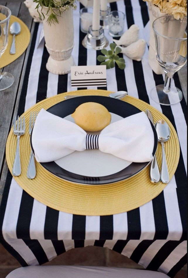 Amazing Striped Tablecloth Navy Blue And White Stripe Table Runner Home Interior And Landscaping Synyenasavecom
