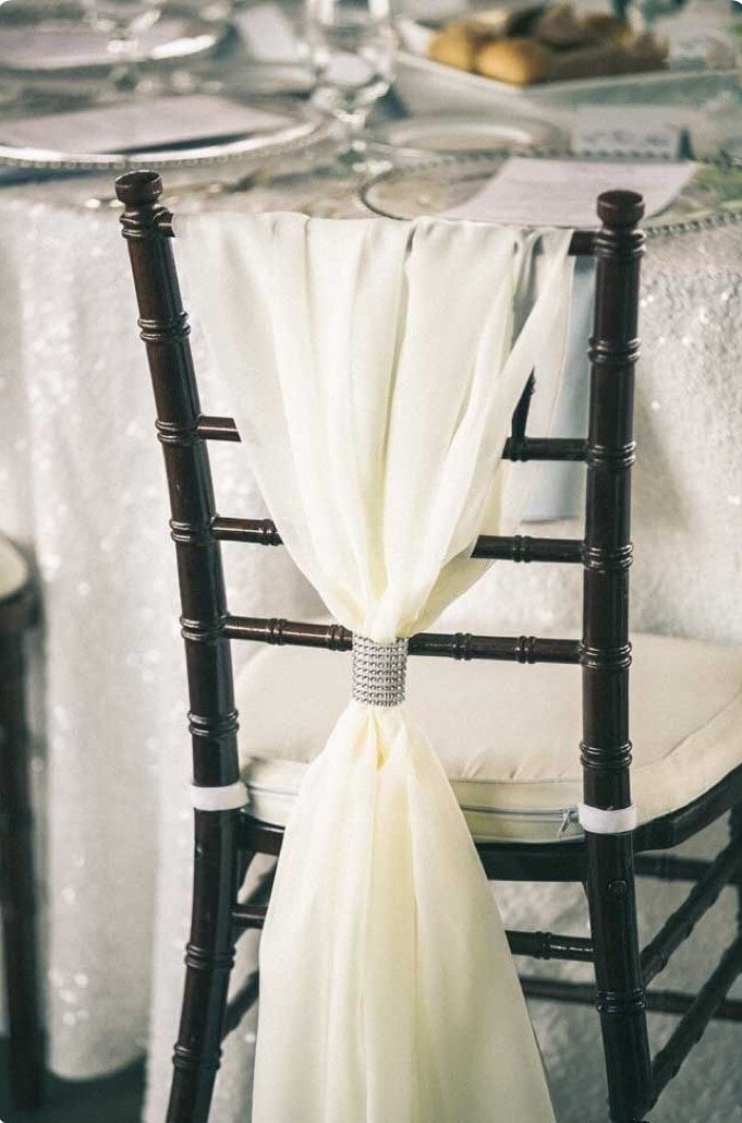 Pleasing Romantic Chiffon Chiavari Chair Sash Chair Cover Wedding Ibusinesslaw Wood Chair Design Ideas Ibusinesslaworg