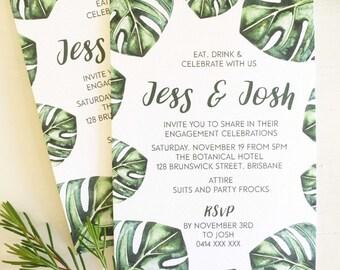 tropical invitations etsy