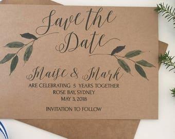 printable rustic wedding invitations printable save the date etsy