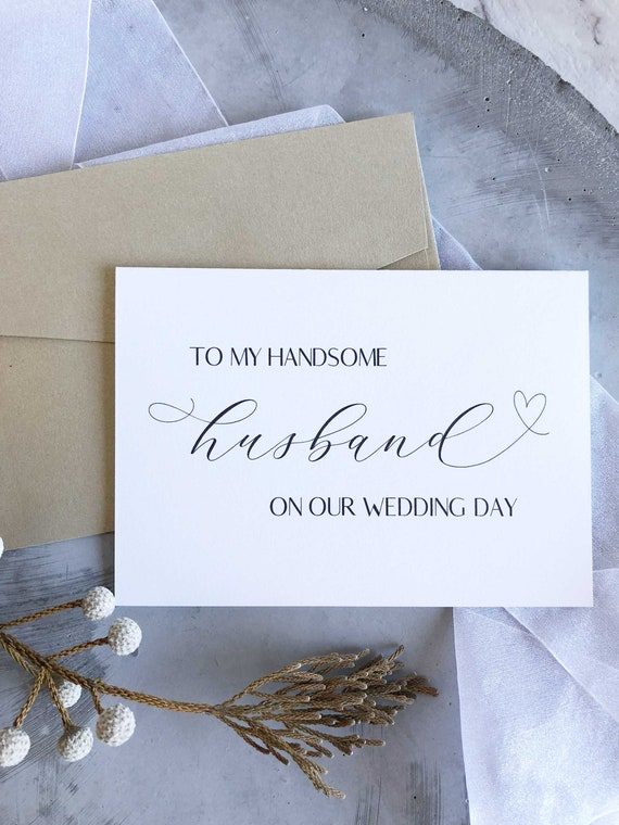 Groom Card From Bride Groom Gifts To My Husband On Our Etsy