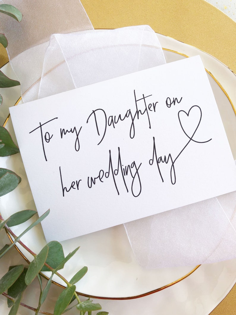 To My Daughter On Her Wedding Day Card Bride Gift From Etsy