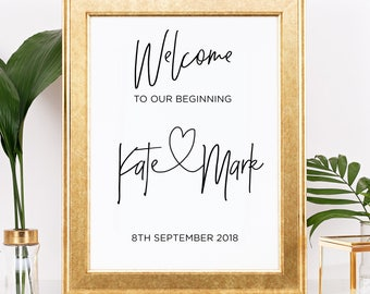 Welcome Wedding Sign, Printable Wedding Welcome Signs, Wedding Signage, Wedding Signs Printable, Downloadable Candy Bar Sign