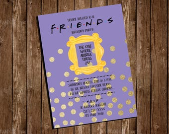Friends Party Etsy