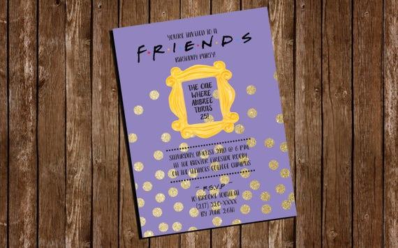 Printable FRIENDS themed Birthday Party Invitation/ | Etsy