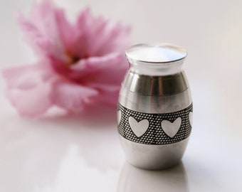 Small Heart Urn • Mini Heart Urn • Urn For Human Ashes • Pet Memorial Urn •  Small Ashes Keepsake • Always With Me Keepsake • Memorial Gift