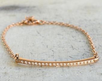 Diamond bracelet, 18k gold bracelet, rose gold bracelet, white gold bracelet, yellow gold bracelet