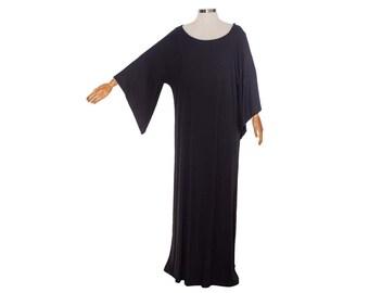5086c48b04dda SALE-Black Kaftan dress maxi caftan dress Loose cotton casual dress plus  size summer dress,maternity dress,feather printed,in mint
