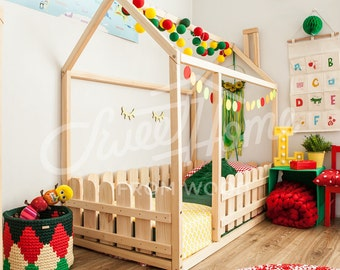 Toddler Bed Play House Bed Frame Children Bed Bunk Bed Home Etsy