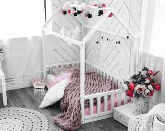 montessori house bed toddler bed and children by. Black Bedroom Furniture Sets. Home Design Ideas