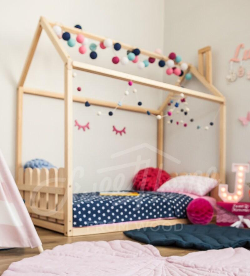 Kinder Bett Babybett Zelt Betten Kinder Haus Kinder Bett | Etsy