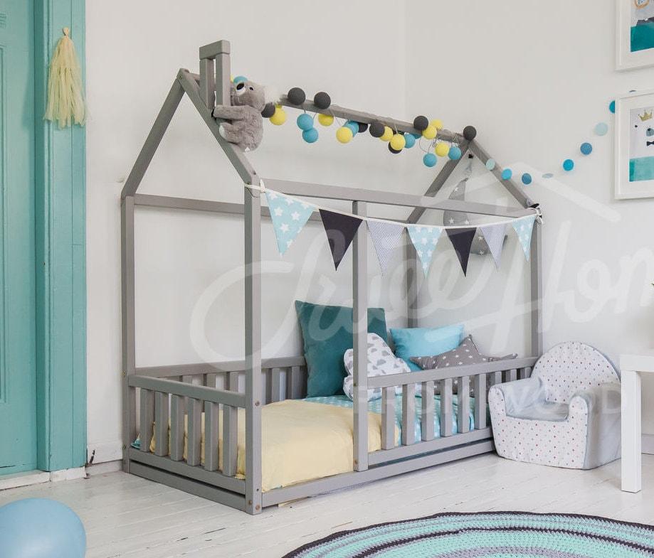 Montessori Spielzeug Babybett Kinderbett Kinderbett Haus | Etsy