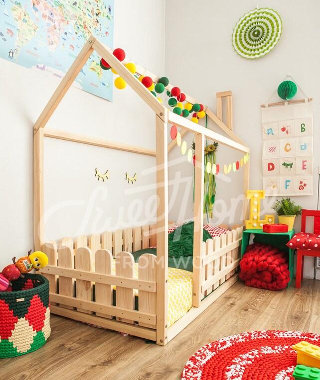 Haus Bett Kinderbett Spielhaus Zelt Bett Etagenbett Holz | Etsy