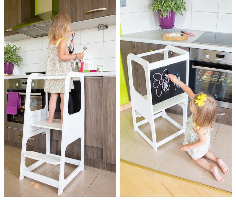Peachy Learning Tower Kitchen Helper Kitchen Stool Safety Stool Caraccident5 Cool Chair Designs And Ideas Caraccident5Info