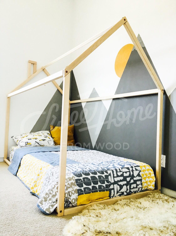 Kleinkind-Bett Haus geformt Kindergarten Holzhaus Bett Bett | Etsy