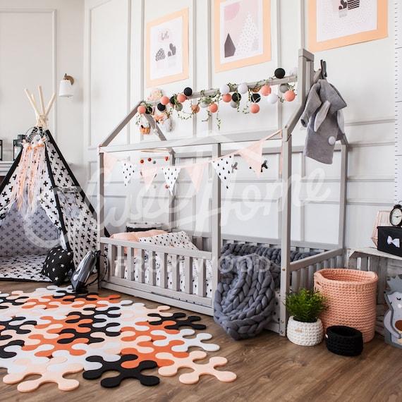 kinder bett voller doppelte gr e kinderbett etsy. Black Bedroom Furniture Sets. Home Design Ideas