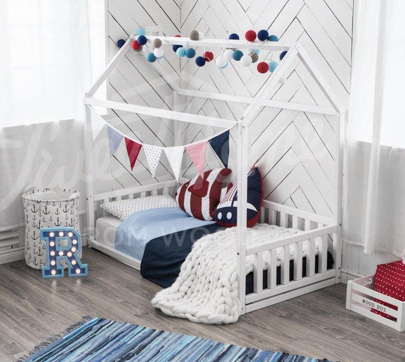 Kinder Bett Kleinkind Bett Bett Kinder Tipi Holz Haus Babybett | Etsy