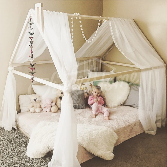 online retailer 1f735 fbb0c Wood bed FULL/DOUBLE, toddler bed frame, tent bed, wooden house bed frame,  wood nursery bed house, baby bed, wood bed, kids bed gift SLATS