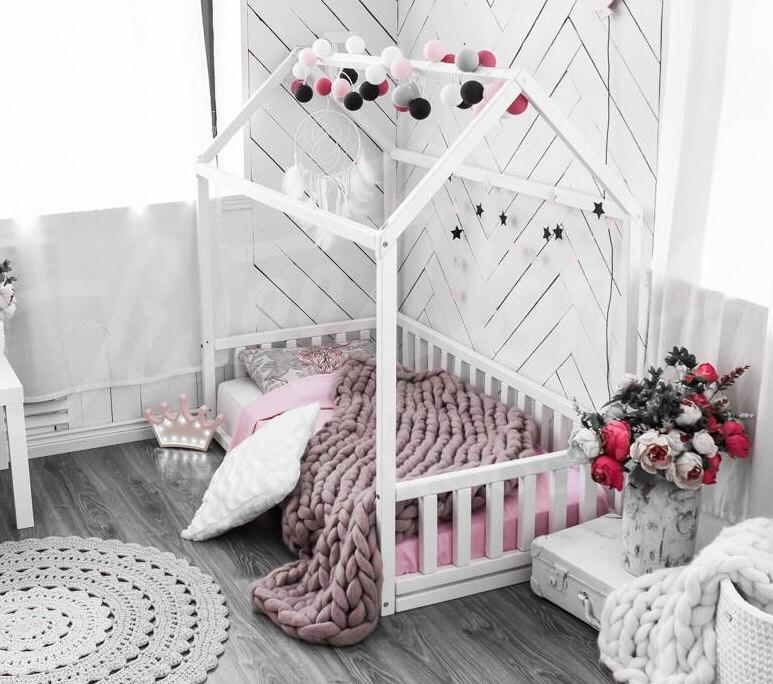 Haus Bett Kinderbett Kleinkind Bett Kinder Tipi Holzhaus | Etsy