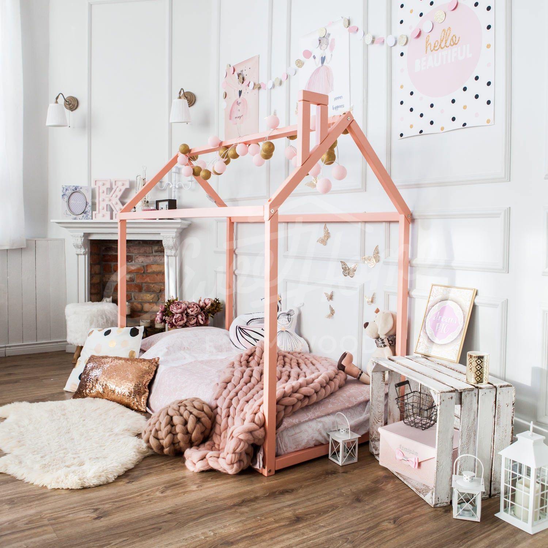 Kinderbett Kinderbett Spiel Zelt Babybett Holzbett Haus Bett | Etsy