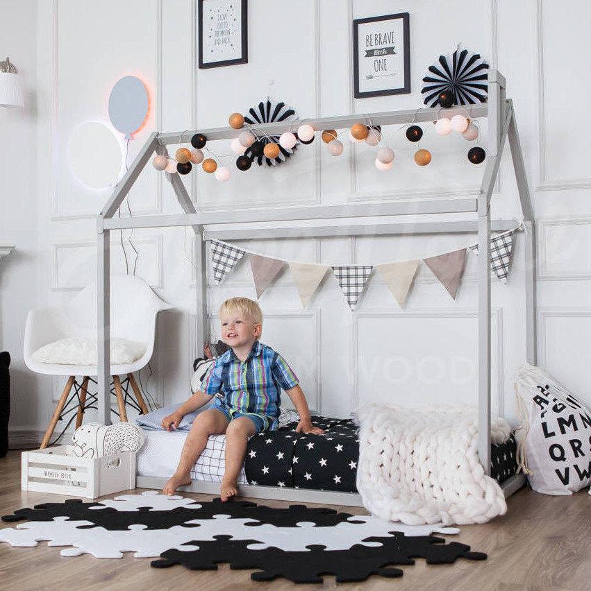 Kleinkind-Bett spielen Haus Bett Rahmen Kinder Bett Etagenbett | Etsy