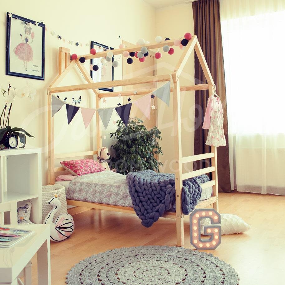 Kindergarten Kinder Bett Haus Bett Kinderbett Haus Holzhaus | Etsy