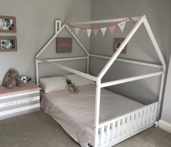 Montessori Toddler Room Wooden Bed Full, Queen Size Boy Bed Frame