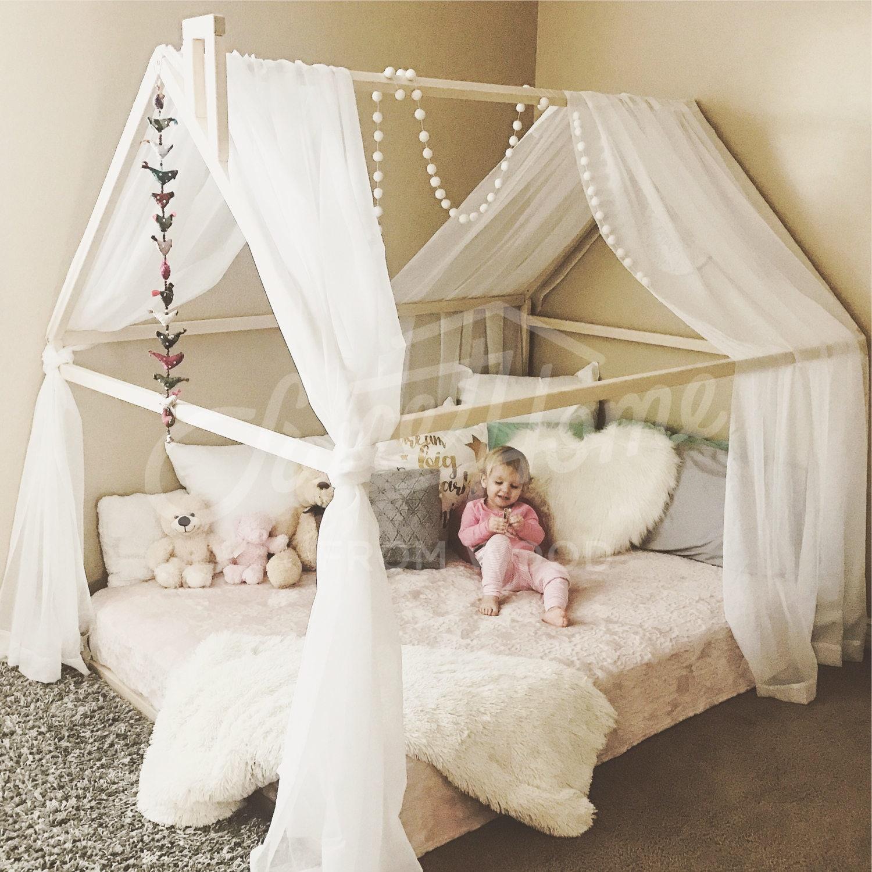 Montessori Kleinkind Betten Rahmen Bett Haus Bett Haus | Etsy