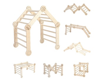 Transformable Climbing triangle Foldable Climbing triangle Wooden activity gym Climbing gym Kids ladder First birthday gift Climbing ramp