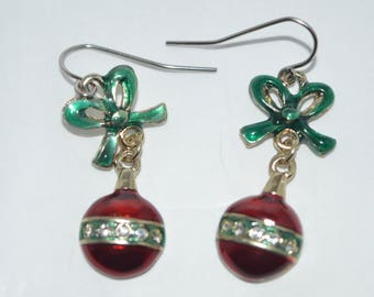 Christmas Stocking with Bells Earrings