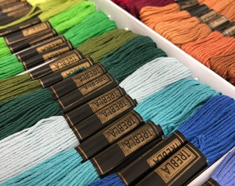 Embroidery skeins, Various colour skeins, cross stitch thread. Embroidery & Cross Stitch Supplies.