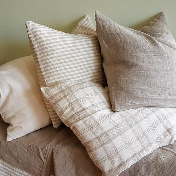 Linen Pillowcase Stone Washed Sham