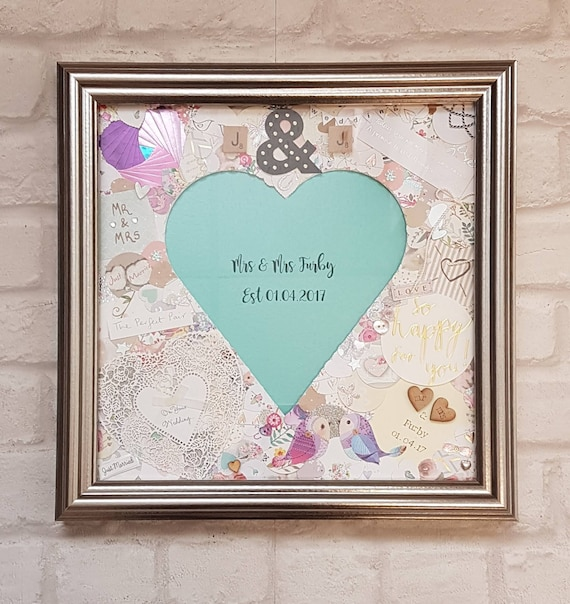 Wedding Gift Decorated Frame wCard