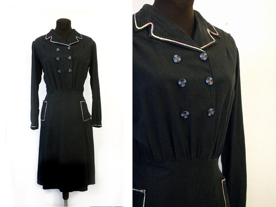 1930s Italian cotton day dress