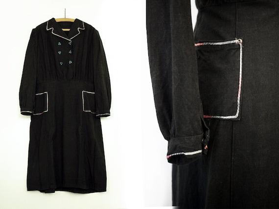 1930s Italian cotton day dress - image 3