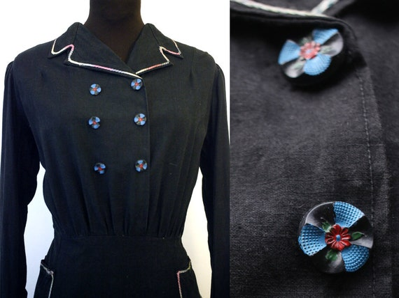 1930s Italian cotton day dress - image 2