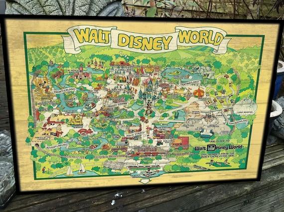 Vintage and Retro Disney Wood Art Saratoga Springs resort Salutations WDW
