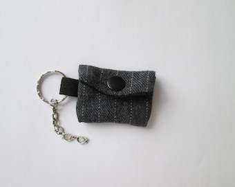 Key FOB Mini Purse grey for Essengeld
